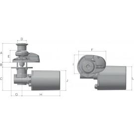 Якорная лебедка Lofrans X1 500 Вт, 12 В 08 мм
