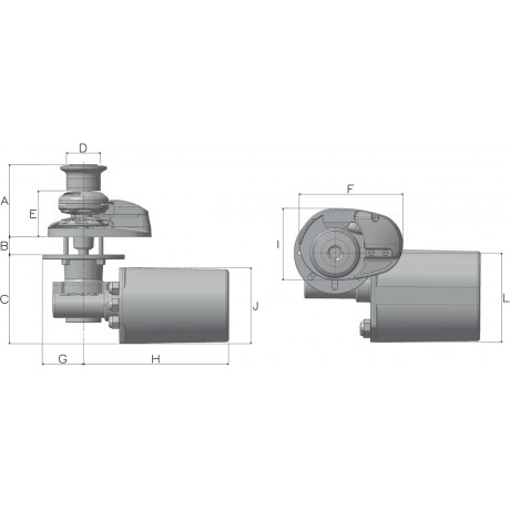 Якорная лебедка Lofrans X1 700 Вт, 12 В 08 мм (капстан)