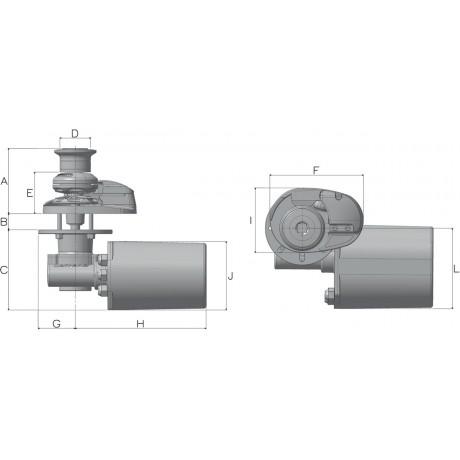 Якорная лебедка Lofrans X1 500 Вт, 12 В 06 мм