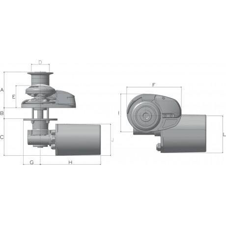 Якорная лебедка Lofrans X2 700 Вт, 12 В 08 мм (капстан)