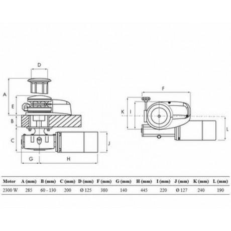 Якорная лебедка Lofrans X4 2300 Вт, 24 В 12 мм с кабестаном
