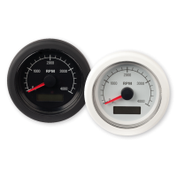 Тахометр черный 4000 об/мин со счетчиком мото часов
