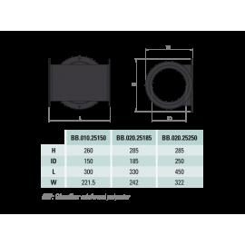 Кормовой туннель подруливающего устройства BASIK 110мм