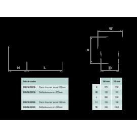 Дефлекторы для кормового туннеля ПУ 150мм
