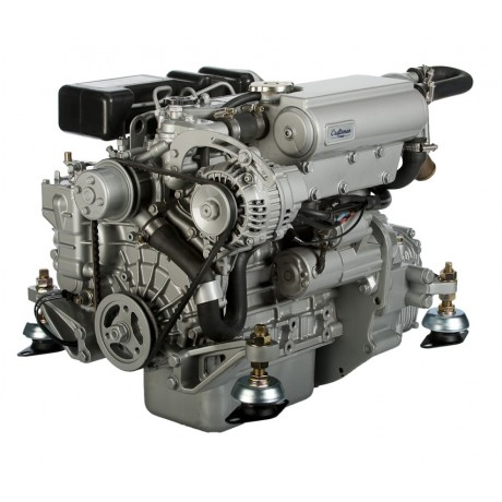 Судовой дизельный двигатель Craftsman Marine CM3.27 27 л.с. c реверс-редуктором ZF10M и панелью ALFA10E