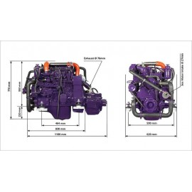 Судовой дизельный двигатель HAYNAV MARINE HM4.83 (Mitsubishi)