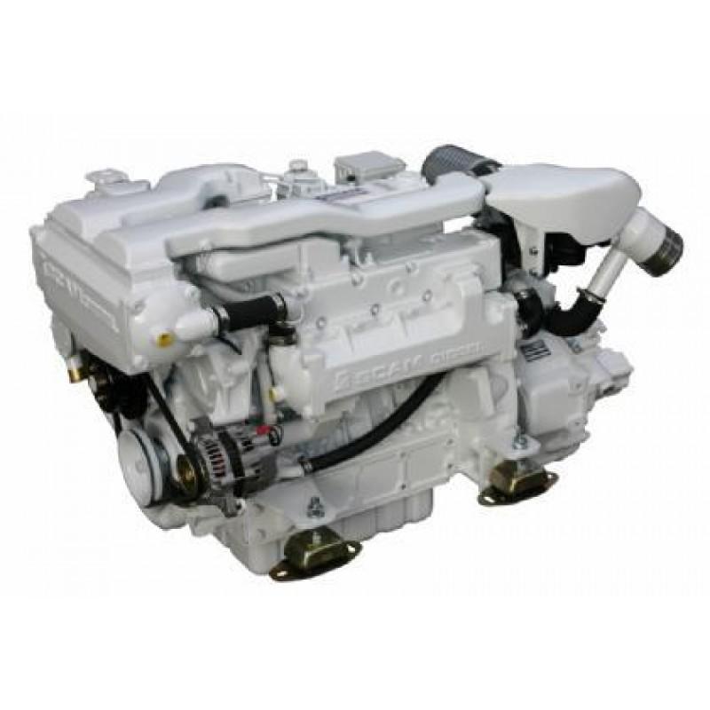 Судовой дизельный двигатель SCAM DIESEL SD 4.140 T с реверс-редуктором ТМ93