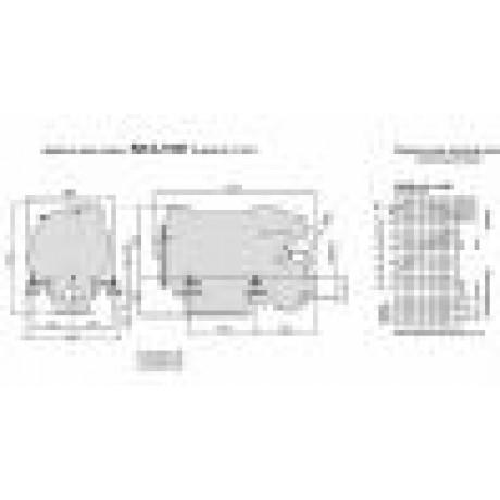 Судовой дизельный двигатель SCAM DIESEL SD 4.140 T с реверс-редуктором TM170