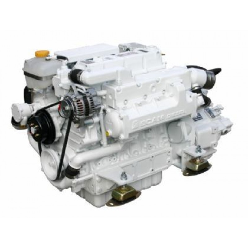 Судовой дизельный двигатель SCAM DIESEL SD 485 T с реверс-редуктором TM93