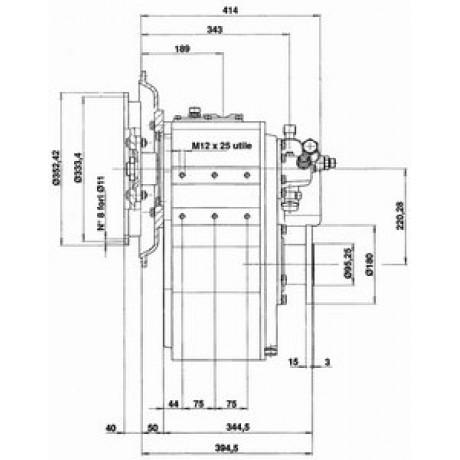 Реверс-редуктор TM 200B R=4.48