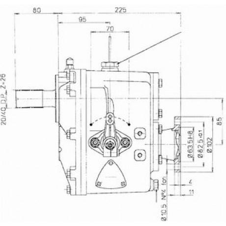 Реверс-редуктор TMC 260R=2.88