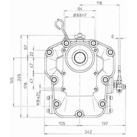 Реверс-редуктор TMC 260R=2.0