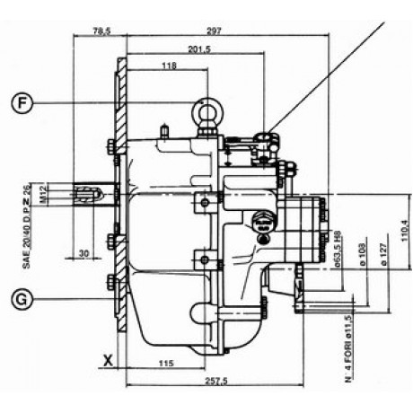 Реверс-редуктор TM 93 R=2.40