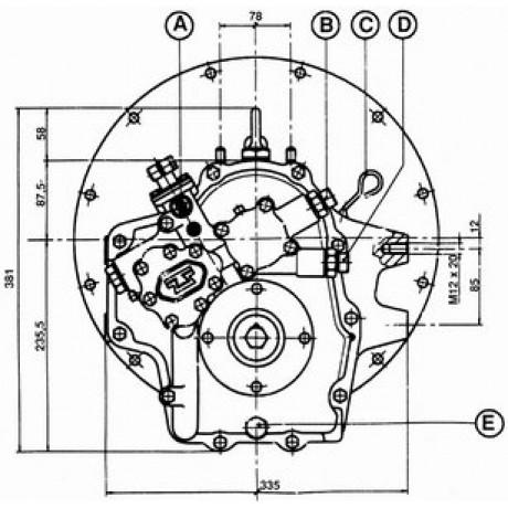 Реверс-редуктор TM 93A R=2.09