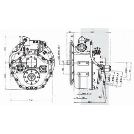 Реверс-редуктор TM 1200A R=1.44