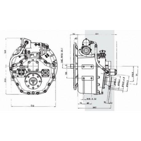 Реверс-редуктор TM 1200A R=2.3