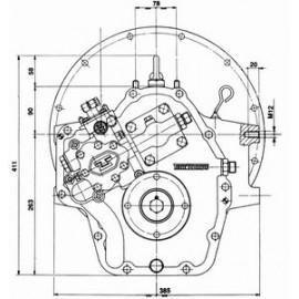 Реверс-редуктор TM 170 R=2.04