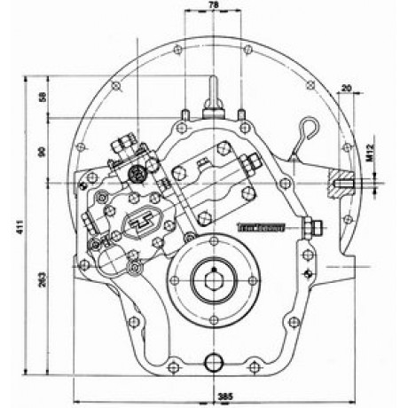 Реверс-редуктор TM 170 R=2.5
