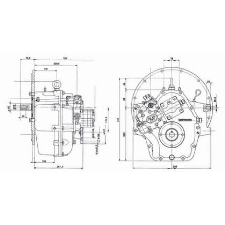 Реверс-редуктор TM 265A R=2.09