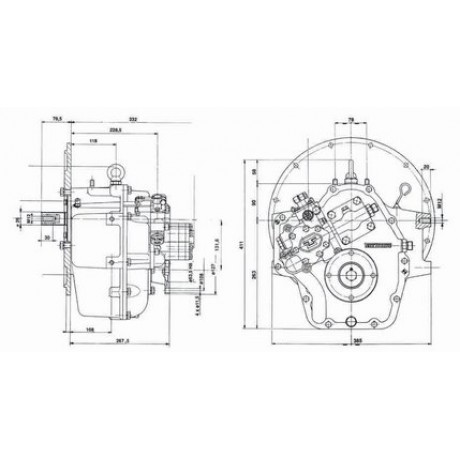 Реверс-редуктор TM 265 R=2.82