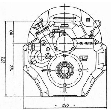 Реверс-редуктор TM 345 R=2.0
