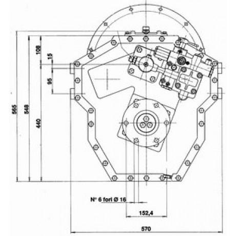 Реверс-редуктор TM 360 R=4.0
