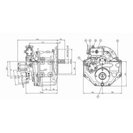 Реверс-редуктор TM 485A1 R=2.09