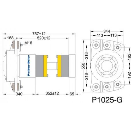 Упорный подшипник PYTHON-DRIVE P1025-G