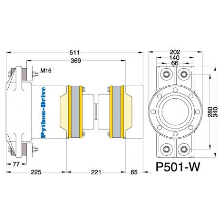 Упорный подшипник PYTHON-DRIVE P501-W