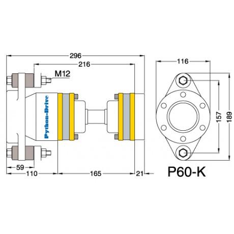 Упорный подшипник PYTHON-DRIVE P60-K