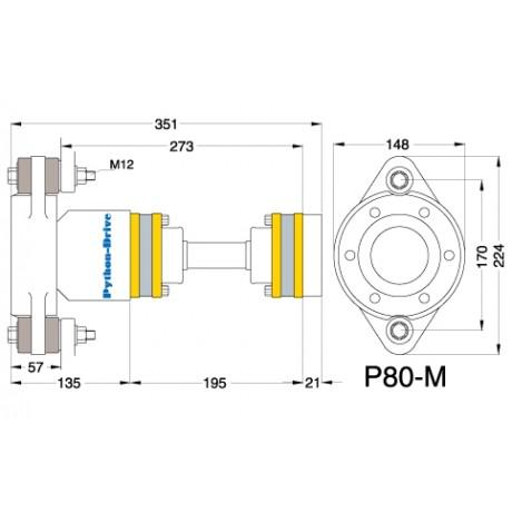 Упорный подшипник PYTHON-DRIVE P80-M